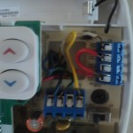 Common wire hooked up in thermostat