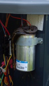 Run Capacitor HVAC Shorted out by snake
