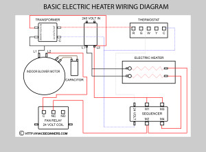 Electric Heat Diagram - not for field use