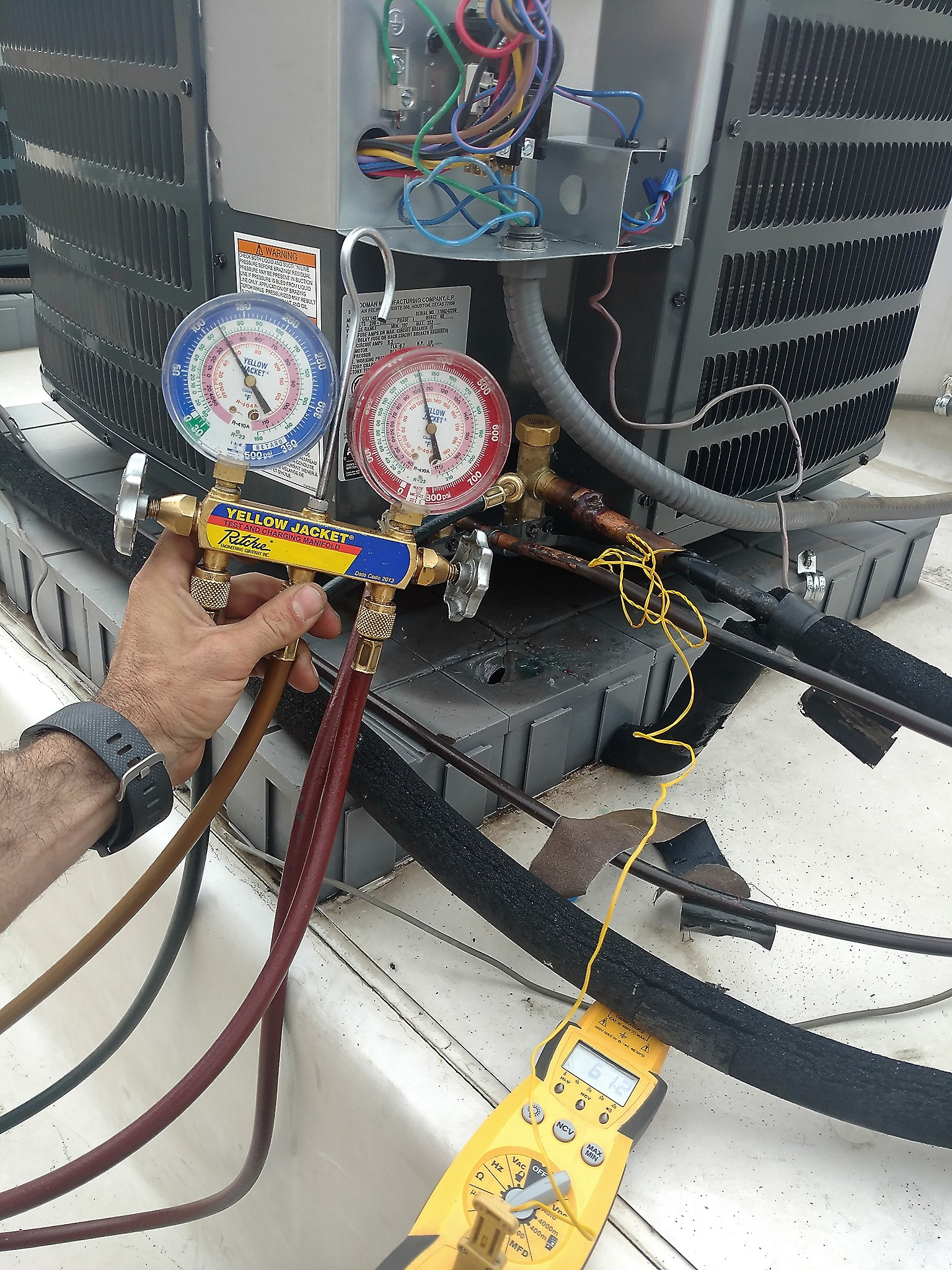 Story Time Troubleshooting Goodman Condenser Hvac Training For Ac Wiring Heater Checking Superheat On Condensing Unit